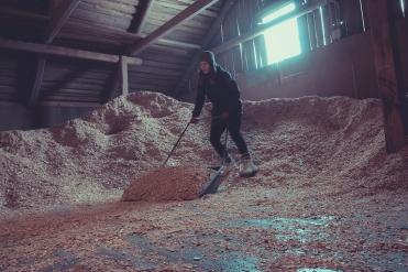 shovel-full-of-wood-chips